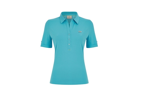Ladies Polo Shirt in Kingfisher Blue