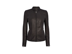 Ladies Iconic Leather Jacket in Beluga