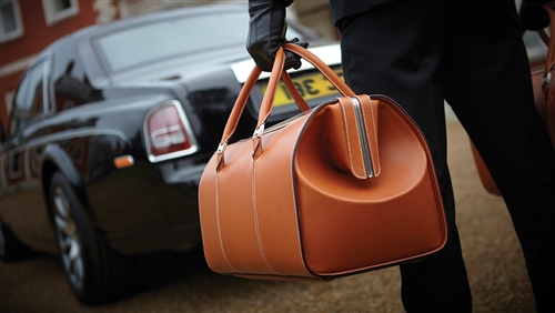 Rolls Royce Luggage Weekender Bag Post Oak Motor Cars